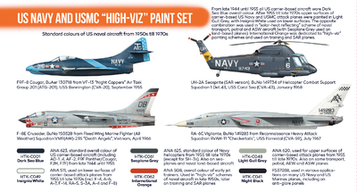 "US Navy AND USMC ""High-Viz"" Paint Set, set barev - 2"