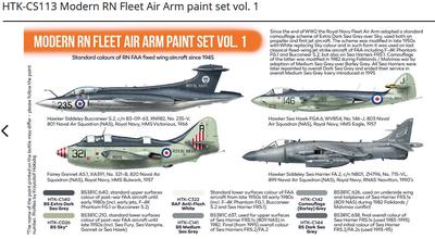 Modern RN Fleet Air Arm paint set vol. 1 , sada barev - 2