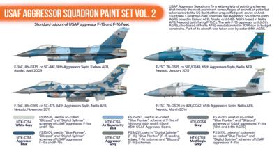 USAF Aggressor Squadron Paint Set 2, sada barev - 2