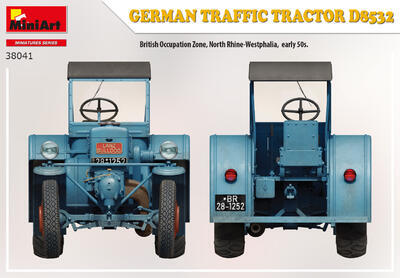 GERMAN TRAFFIC TRACTOR D8532 - 2