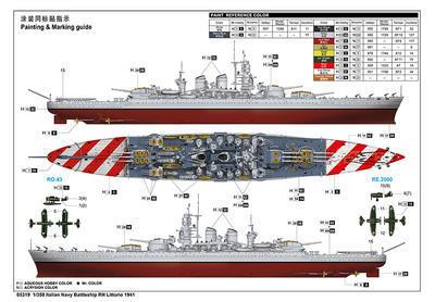 Italian Navy Battleship RN Littorio 1941 - 2