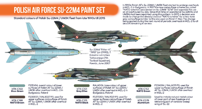 Polish Air Force SU-22M4 Paint Set, sada barev - 2