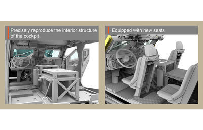 M1240A1 M-ATV U.S. MRAP All Terrain Vehicle, full interior kit - 2