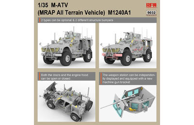 M1240A1 M-ATV U.S. MRAP All Terrain Vehicle, full interior kit - 2