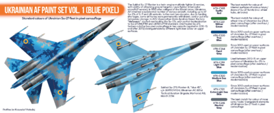 Ukrainian AF Paint set Vol.1 (Blue Pixel), sada barev - 2