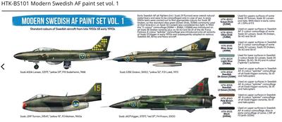Modern Swedish AF paint set vol. 1 - 2