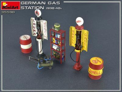 German Gas Station 1930-40s - 2
