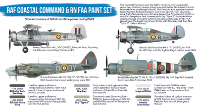 RAF Coastal Command & RN FAA Paint Set, sada barev - 2