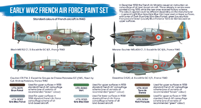 Early WW2 French Air Force Paint Set, set barev - 2