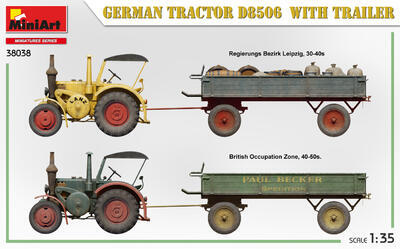 GERMAN TRACTOR D8506 WITH TRAILER - 2