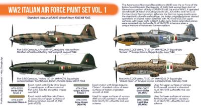 WW2 Italian Air Force Paint Set Vol. 1, sada barev - 2