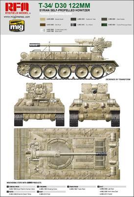 T-34/ D30 122 mm Syrian Self- Propelled Howitzer - 2