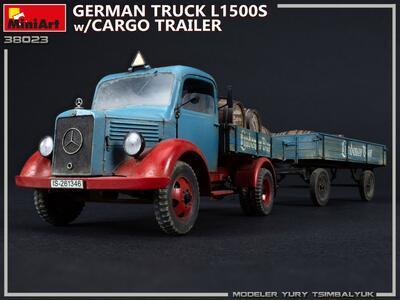 GERMAN TRUCK L1500S w/CARGO TRAILER - 2