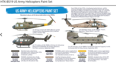 US Army Helicopters Paint Set, sada barev - 2