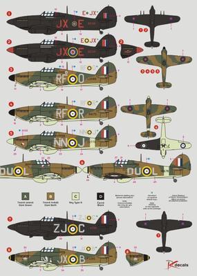 Hawker Hurricane  letouny používané československými letci - 2