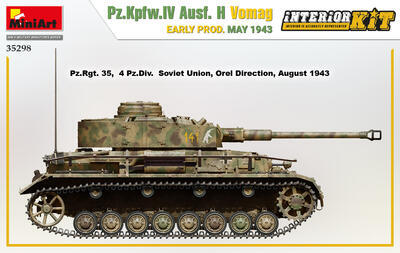 Pz.Kpfw.IV Ausf. H Vomag. EARLY PROD. MAY 1943. INTERIOR KIT - 2