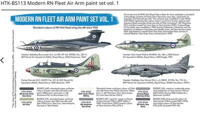 Modern RN Fleet Air Arm paint set vol. 1, set barev - 2
