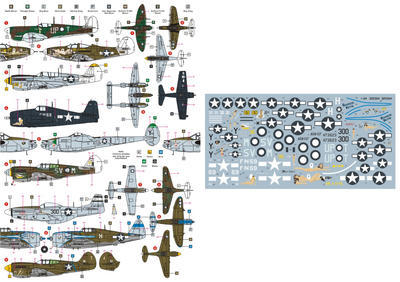 "Pacific Fighters ""Part One"" P-38L, P-400, P-47, Spitfire, P-40K, P-40N, P-51D, F6F-5N - 2"