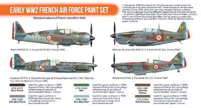 Easrly WW2 French Air Force Paint Set, sada barev - 2