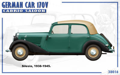 German Car 170 V Cabrio Saloon with 2 Figures - 2