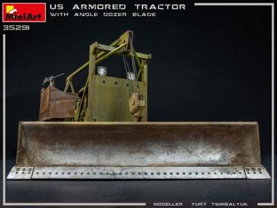 U.S. Armored Tractor with Angle Dozer Blade + 1fig.  - 2