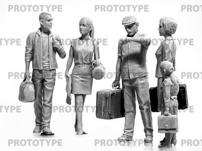Chernobyl#5. Evacuation (4 adults, 1 child and luggage)   - 2