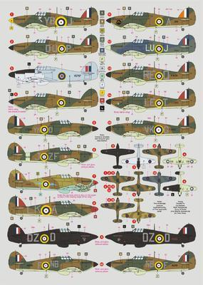 Hurricane Mk.I, part Four, decals - 2