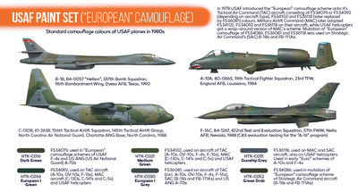 USAF Paint Set (European Camouflage), sada barev - 2