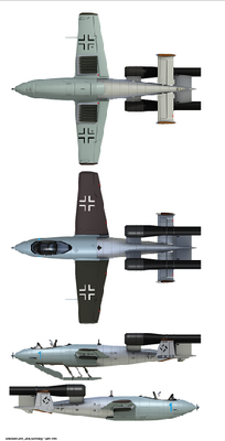 "Ju EF-126 ""Elli"" / EF-127 ""Walli"" (3 in 1) Entwicklungsflugzeug - Jägernotprogramm - 2"