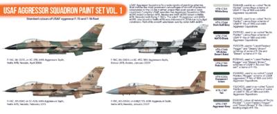 USAF Aggressor Squadron Paint Set Vol.1  - 2