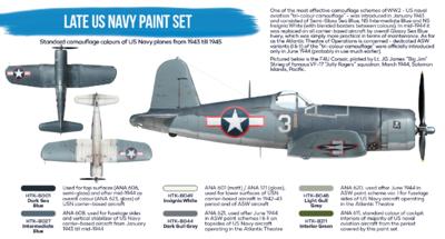 Late US Navy Paint set, sada barev - 2