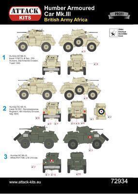Humber Armoured Car Mk.III British Army Africa & Italy 1:72 - 2