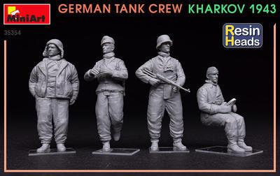 GERMAN TANK CREW. KHARKOV 1943. RESIN HEADS - 2