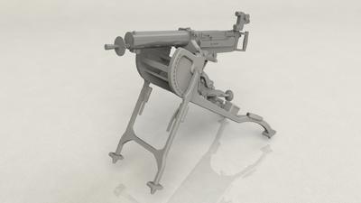 German MG 08 Machine Gun - 2