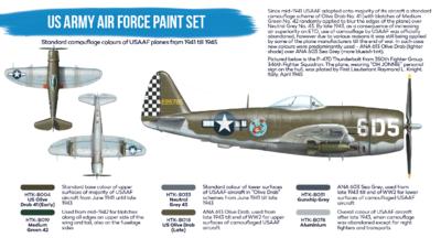 US Army Air Force Paint set,  sada barev - 2