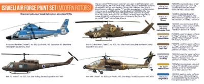 Israeli Air Force Paint Set (Modern Rotors) - 2