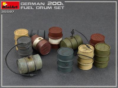 German 200L Fuel Drums (12 ks) - 2