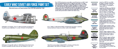 Early WW2 Soviet Air Force Paint Set, set barev - 2