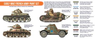 Early WW2 French Army Paint Set, sada barev - 2