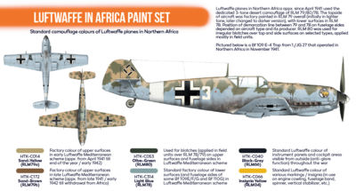 Luftwaffe in Africa Paint Set, sada barev - 2