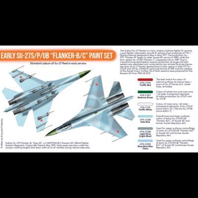 "Early SU-27S/P/UB ""Flanker-B/C"" Paint Set, sada barev - 2"