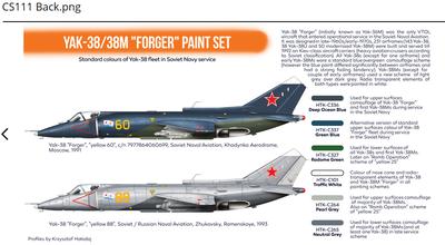 "Yak-38/38M ""Forger"" paint set , sada barev - 2"