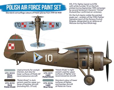 Polish Air Force Paint Set, sada barev - 2