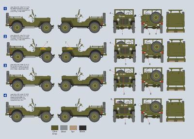 Jeep Willys MB 1st Czechoslovak Army Corps - 2