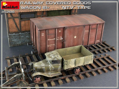 Railway Covered Goods Wagon 18t - 3