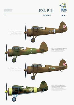 PZL P.11c Expert Set 1/48 - 3