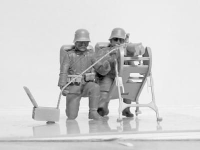 WWI German MG 08 MG Team - 3