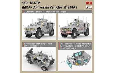 M1240A1 M-ATV U.S. MRAP All Terrain Vehicle, full interior kit - 3
