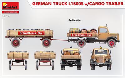 GERMAN TRUCK L1500S w/CARGO TRAILER - 3