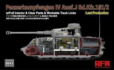 Panzerkampfwagen IV Ausf.J Sd.Kfz.161/2 (w/full interior&clear parts&workle track  - 3